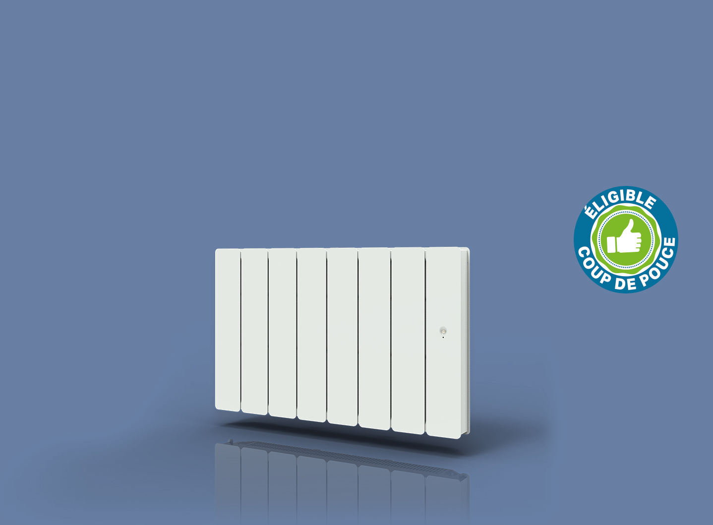 Radiateur Bellagio Smart ECOcontrol Bas Blanc