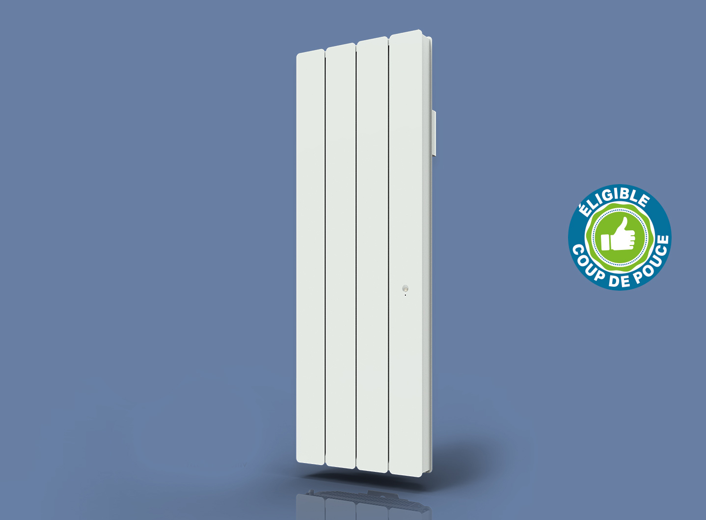 Radiateur Bellagio Smart ECOcontrol Vertical Blanc