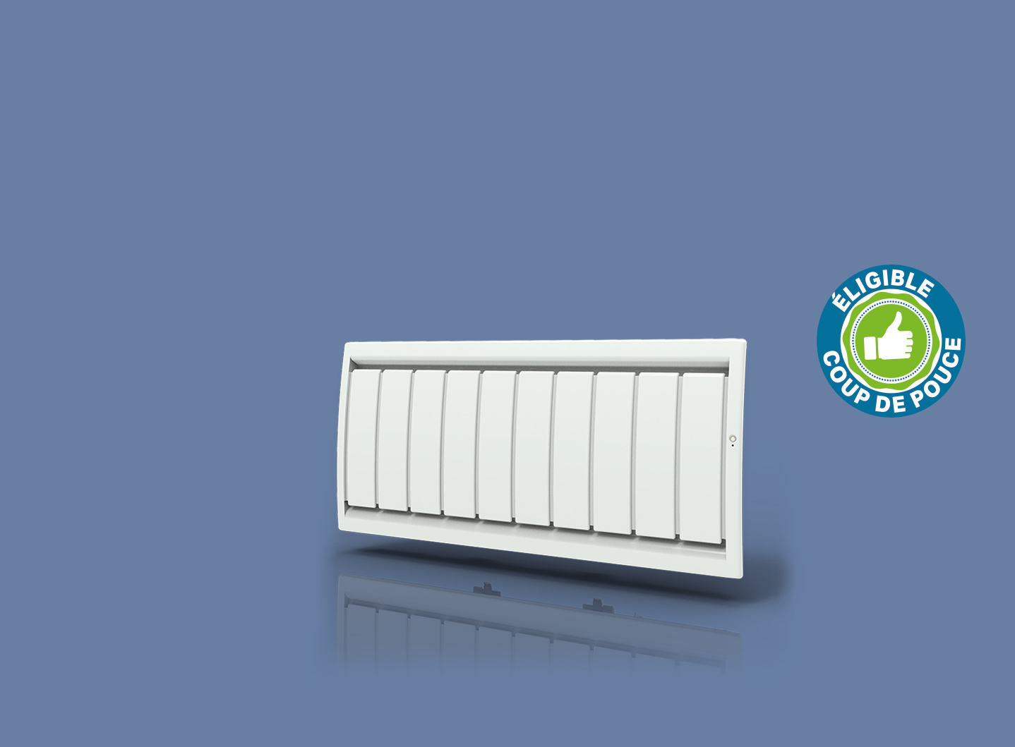 Radiateur Calidou Smart ECOcontrol Bas Blanc