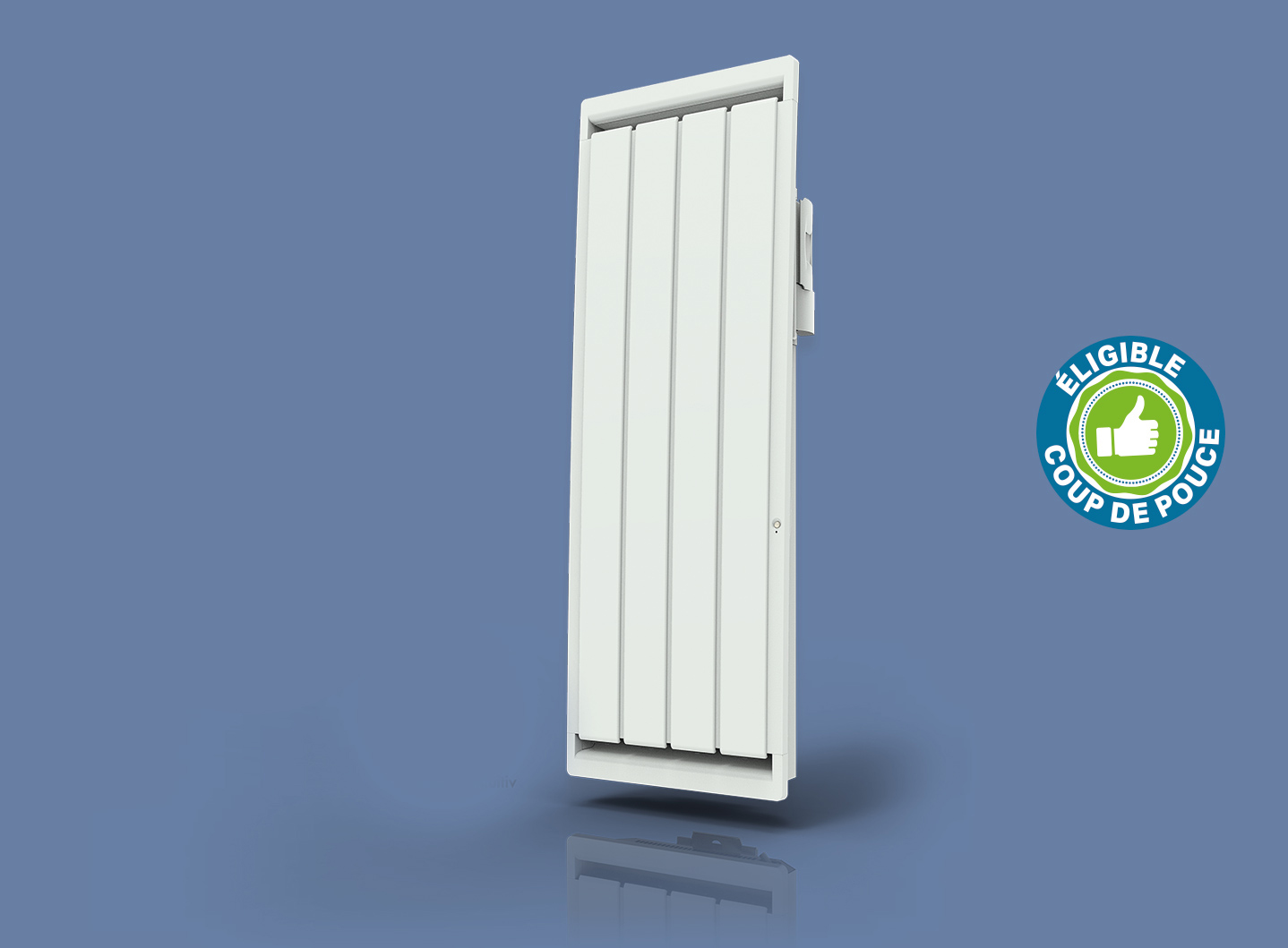 Radiateur Calidou Smart ECOcontrol Vertical Blanc
