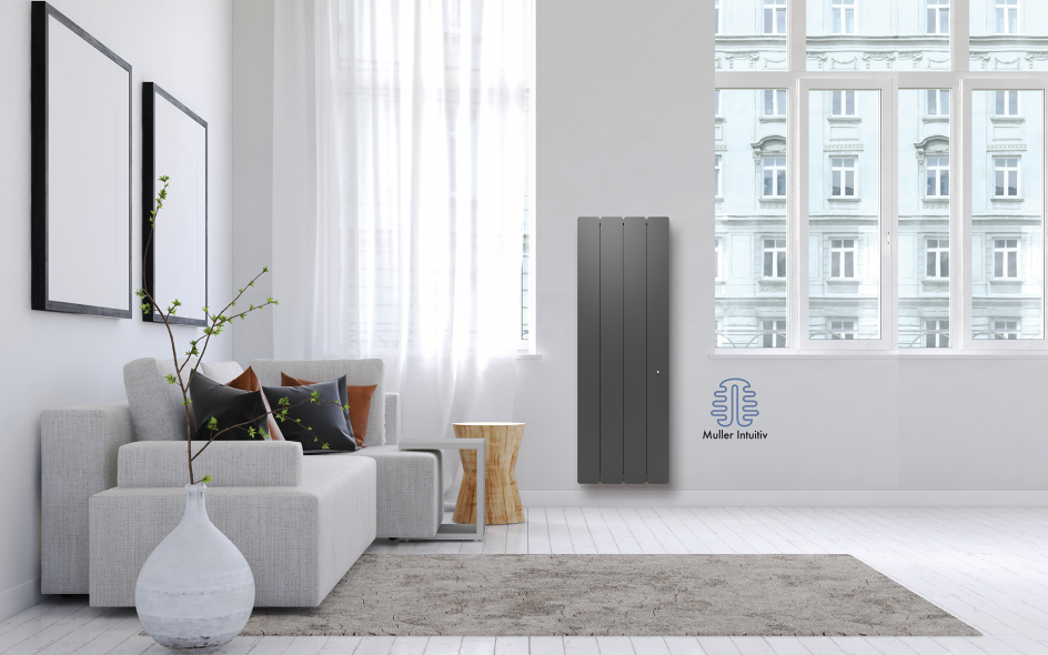 Radiateur Bellagio Smart ECOcontrol Vertical Anthracite