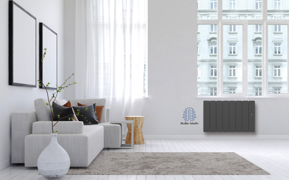 Radiateur Bellagio Smart ECOcontrol Bas Anthracite