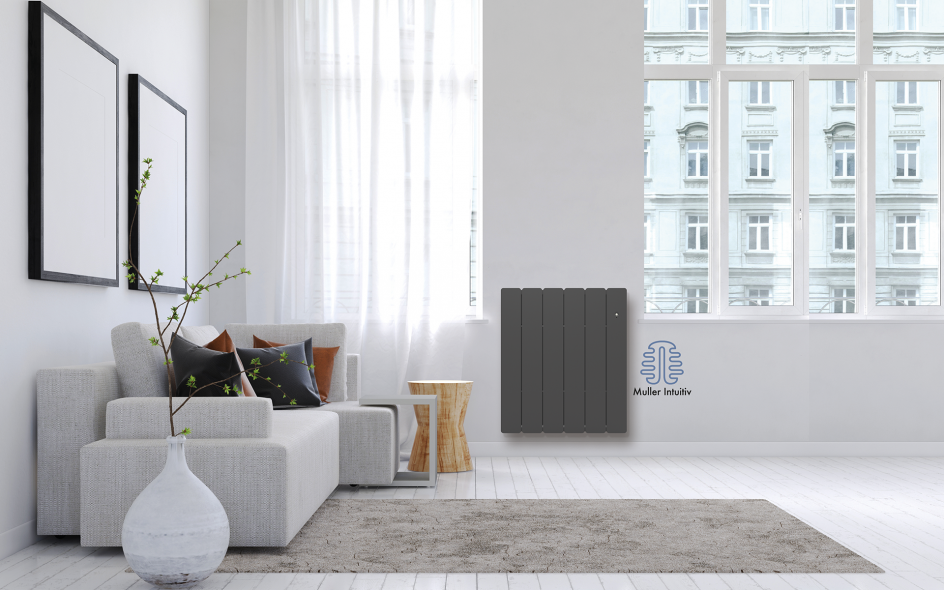 Radiateur Bellagio électrique intelligent Horizontal Anthracite